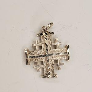 Sterling Byzantine cross pendant